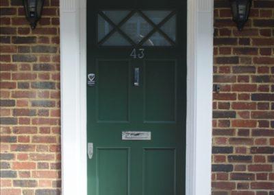carpentry example - front door