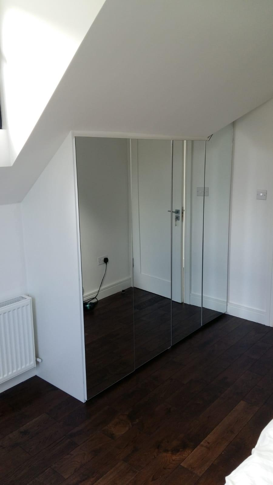 carpentry example - mirror wardrobe